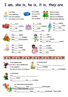 Free ESL and EFL printable worksheets and handouts for teaching/learning English as a second/foreign language English Worksheets For Kids, English Lessons For Kids, Kids English, English Activities, Learn English, Fun Activities, Pronoun Activities, French Lessons, Spanish Lessons