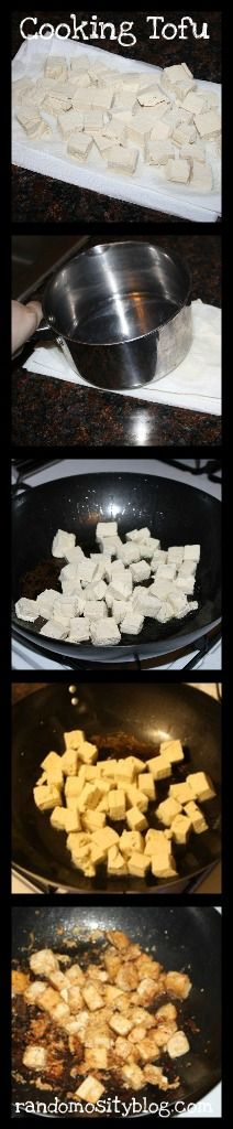 Step by step (with written directions & pictures) on how to cook tofu