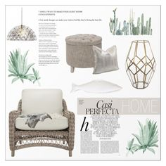 """♠ Calm decor"" by paty ❤ liked on Polyvore featuring interior, interiors, interior design, home, home decor, interior decorating, Shishi, Safavieh, Abigails and Whiteley"