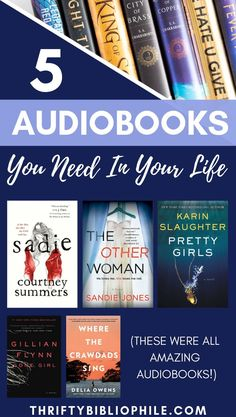 I absolutely adore audiobooks, and I've listened to a lot of wonderful audiobooks. Here are 5 audiobooks you NEED in your life! Reading Lists, Book Lists, Good Books, Books To Read, Amazing Books, Ya Books, Best Audiobooks, Book Tattoo, Book Recommendations