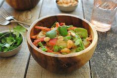 Peanut Noodles with Vegetables | Bev Cooks