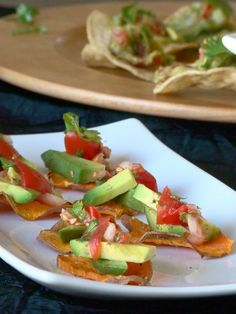 Snack - Sweet Potato Appetizers with Hass Avocado