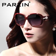 Parzin 2014 Brand Women Sunglasses Fashion Polarized Sunglasses Luxury Rhinestone  female sun glasses With Box black 6214