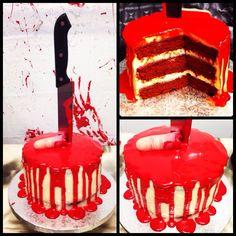 Tarta red velvet para Halloween por sanlicious