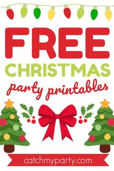 Download our FREE Christmas party printables! See more party ideas and share yours at CatchMyParty.com #catchmyparty #partyideas #christmas #christmaspartydecorations #christmaspartyprintables #freeprintables Free Baby Shower Printables, Party Printables, Free Printables, Christmas Recipes, Christmas Ideas, Merry Christmas, Best Ugly Christmas Sweater, Free Christmas Printables, Christmas Party Decorations