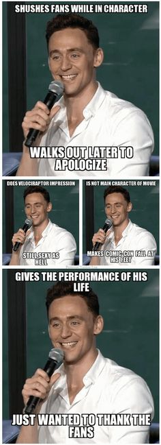 And this is why I love Tom Hiddleston!
