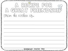 Friendship Activity To Go With The Book Enemy Pie  Teaching