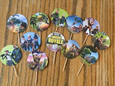 Free Fortnite Cupcake Topper Tutorial - Kids Birthday Parties