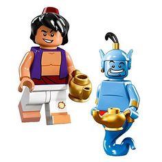 Lego Disney Minifigures 71012 Aladdin Genie 2 Pack >>> Click for Special Deals #DisneyLego Disney Minifigures, Genie Aladdin, Building Blocks Toys, Lego Figures, Buy Lego, Plate Display, Lego Disney, Legos, Smurfs