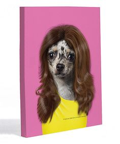 Take a look at this Wag Canvas Wall Art by OneBellaCasa on #zulily today!