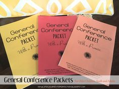 Life's Journey To Perfection: General Conference Packet for Young Women/Youth/Adults
