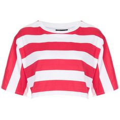 NEW TOPSHOP BOLD BIG STRIPED CROPPED TOP SIZE US 10/ UK 14/ EURO 42 #Topshop #Cropped #Casual