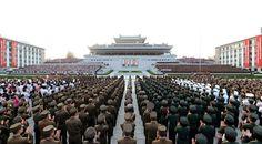 주체조선의 국력을 힘있게 과시한 핵탄두폭발시험성공을 경축하는 평양시군민련환대회 진행