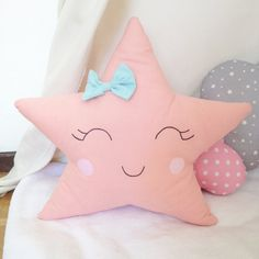 Dimensions: 37cm height 43cm wide Material: cotton Color: coral Padded with washable wadding at 30• Also available in there mint pastel color. Ideal for putting in the teepee, bed in the in a shelf.