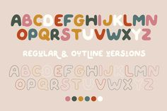 Ad: QUIRKY SPRING Playful Font Family by Anna Zakharchenko on QUIRKY SPRING is uneven, unexpected, playful font family which puts a smile on your projects and will inspire you to create something fun Typography Design, Branding Design, Logo Design, Kids Graphic Design, Spring Font, Font Maker, Modern Fonts, Font Family, New Fonts