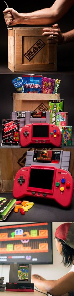 A great gift for classic gamers! Recapture your NES gaming glory days. #mancrates