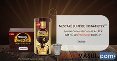 Snapdeal Offer: Get Rs.50 Freecharge Special Coffee Nescafe Kit Only At Rs. 225.  http://www.paisavasul.com/code/snapdeal-offer-get-rs-50-freecharge-special-coffee-nescafe-kit-only-at-rs-225