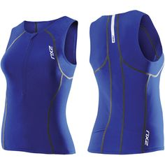 2XU Active Tri Top ($31) ❤ liked on Polyvore featuring activewear, activewear tops, 2xu and neon activewear