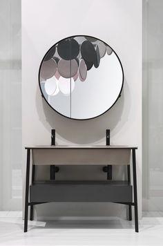 Mirror and wash basin