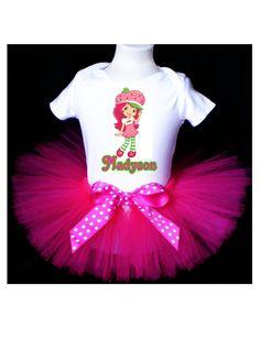 Strawberry Shortcake Tutu Birthday Outfit by PrettyAsAPrincess2, $29.99