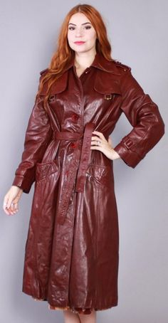 Long Leather Coat, Leather Trench Coat, Leather Jacket, Rain Wear, Wings, Breast, Women's Fashion, Rock, Sweet