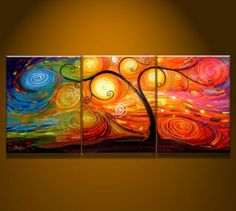 MODERN-ABSTRACT-WALL-CANVAS-ART-OIL-PAINTING-ART-TREE
