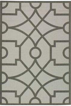 Martha Stewart Living™ Fretwork All-Weather Area Rug - Outdoor Rugs - Synthetic Rugs - Rugs | HomeDecorators.com