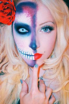 Awwww wish i could pull this off need Amanda's help! Haloween Make-up.