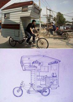 Bicicleta-Caravana, la nueva solución de vivienda móvil y ecológica///
