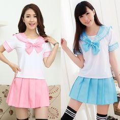 Cute student uniforms skirt two-piece outfit