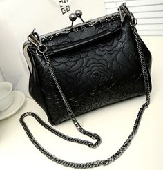 stacy bag hot sale women PU leather handbag female chain embossed floral  print cross-body 108e75a631cce