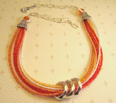 You Are My Sunshine multistrand beaded necklace by ChukDesigns, $24.00