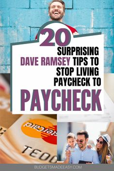 20 Dave Ramsey tips to stop living paycheck to paycheck and start paying off debt! These simple tips will help you the Dave Ramsey baby steps and use the debt snowball method. Plus get a free printable worksheet. Saving Money Quotes, Money Saving Tips, Money Tips, Budgeting Finances, Budgeting Tips, Dave Ramsey Debt Snowball, Debt Snowball Worksheet, Budgeting Worksheets, Money Today