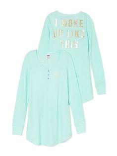 Thermal Sleep Shirt PINK