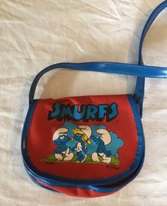 Vintage 1980's The Smurfs Smurfette Purse Handbag Child's Toy PEYO  | eBay