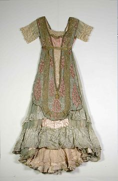 1910-1912 Evening dress by Callot Soeurs, French. Designer: Madame Marie Gerber.