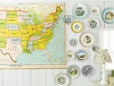Map & Vintage Plate Collection, by Angie Cao Photo