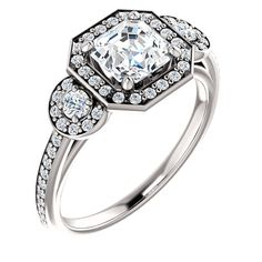 3 Stone Engagement Ring - Center Stone could be Round, Emerald, Asher, Square, Marquis, Opal....whatever you desire! -Betty White Jewelers, #Houma #LA