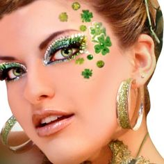 St Pattys eye bling! Glitter eye shadow. Makeup. -- Curated by Luscious Lashes Inc | #108 - 1289 Ellis Street, Kelowna, BC, Canada V1Y 9X6 | (778) 478-0747
