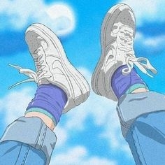 Image discovered by Find images and videos about anime, shoes and aesthetic on We Heart It - the app to get lost in what you love. Aesthetic Images, Aesthetic Collage, Aesthetic Vintage, Aesthetic Anime, Aesthetic Drawings, Blue Aesthetic Grunge, Urban Aesthetic, Animes Wallpapers, Cute Wallpapers