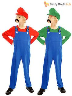 Age 4-12 kids super #mario bros video game boys #childrens fancy dress #costume, View more on the LINK: http://www.zeppy.io/product/gb/2/201063883013/