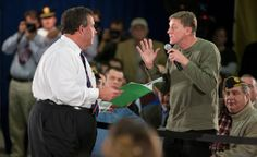 In his latest townhall, Chris Christie tried to resort to his old style of working the room. This time his ability to charm, deflect, intimidate and obfuscate didn't have that same old Christie . Chris Christie, Liberal Politics, Hurricane Sandy, Equal Rights, Change The World, Ny Times, New Jersey, Scandal, Awkward