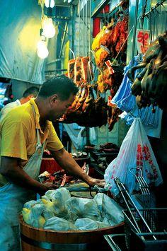 Enjoying the street life and food in Hong Kong