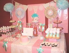 Vintage Tea Party Birthday Party Ideas   Photo 16 of 16