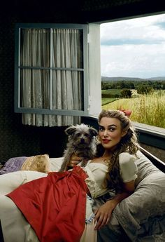 "Kiera Knightley as Dorothy from ""The Wizard of Oz"" by Annie Leibovitz for Vogue"