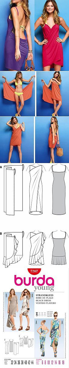 Выкройка пляжной туники от Victoria's Secret   Ladyemansipe YOU ALMOST DON'T NEED A PATTERN TO MAKE THESE-EVEN A LESS THAN SEASONED SEAMSTRESS COULD PROBABLY EASILY FIGURE THESE OUT (TAG: DO IT YOURSELF INSPIRATION; PATTERN; LINK=>FOREIGN LANGUAGE WEBSITE SIMILAR TO PINTEREST W/MORE TUTORIALS)