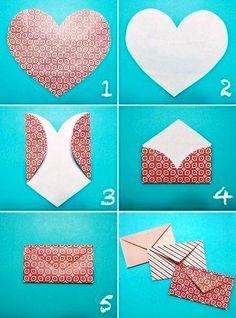 Simple way to make an envelope turkey craft, diy love, heart envelope, fold Heart Envelope, Envelope Book, Gift Envelope, Diy And Crafts, Arts And Crafts, Easy Crafts, Diy Paper Crafts, Creative Crafts, Papier Diy