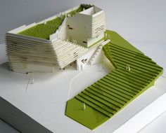 Conceptual Ideation_Structure Villa 62 by Srdjan Jovanovic Weiss / NAO Art Et Architecture, Architecture Model Making, Architecture Student, Landscape Model, Landscape Design, Villa, 3d Modelle, Arch Model, Design Model