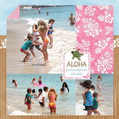 vacation scrapbooking page
