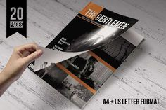 InDesign Magazine Template by Kingtown. Co on @creativemarket